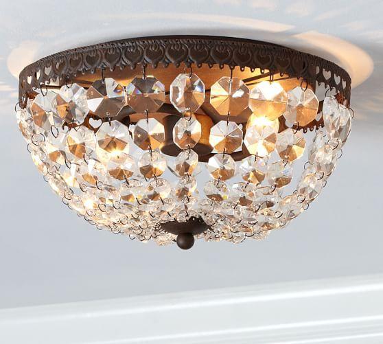 Bathroom Light Fixtures Flush Mount foyer-worthy flush mount ceiling lights | faceted crystal, pottery