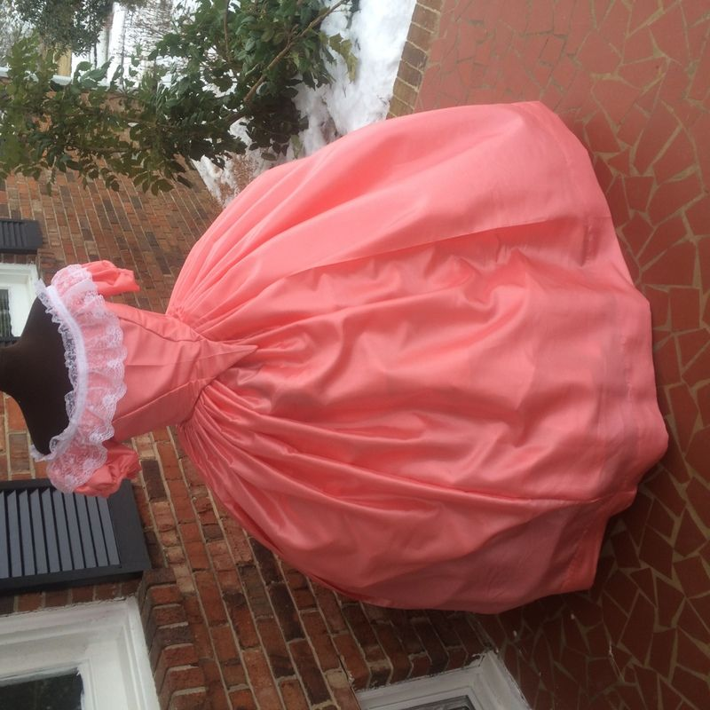 Melon Taffeta Civil War Ball Gown**28