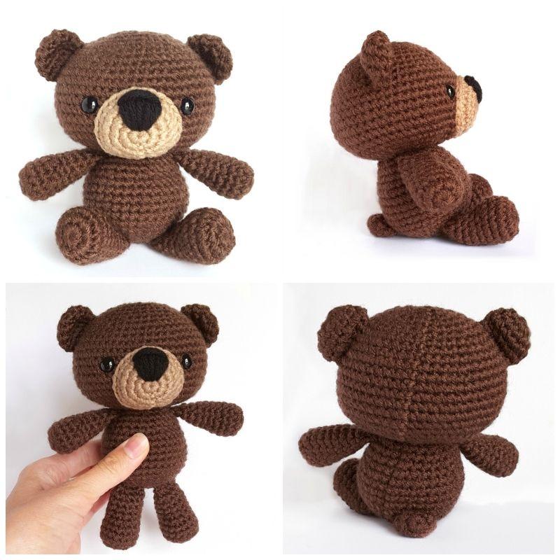 Snuggle Teddy Bear amigurumi pattern by AmiAmore