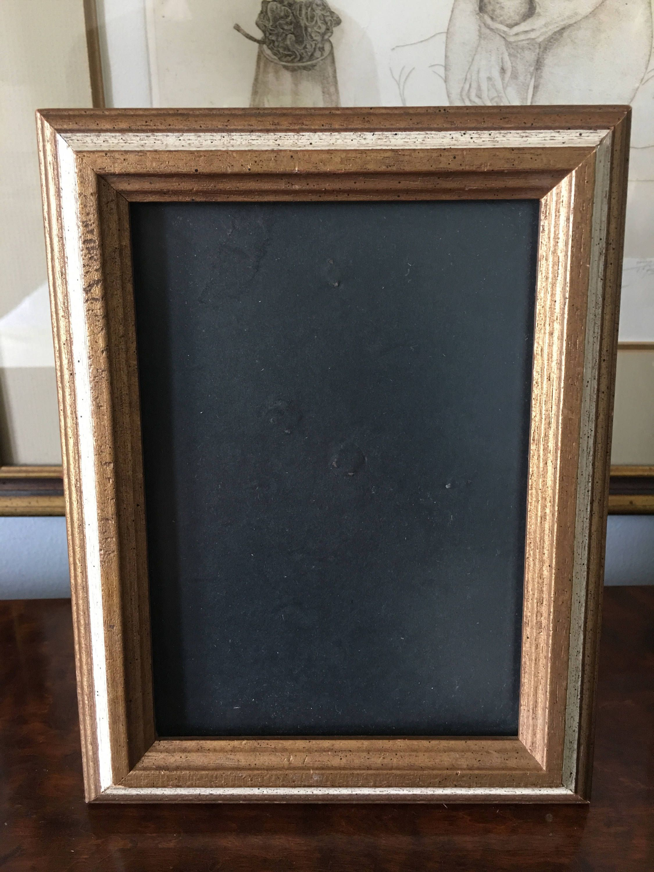 Vintage Gold Wooden Photo Frame By Aniadesigns On Etsy Wooden Photo Frames Photo Frame Wall Photo Frame