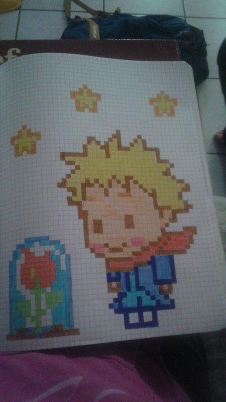 Le Petit Prince Dessin Pixel Pixel Art Animals Et Dessin