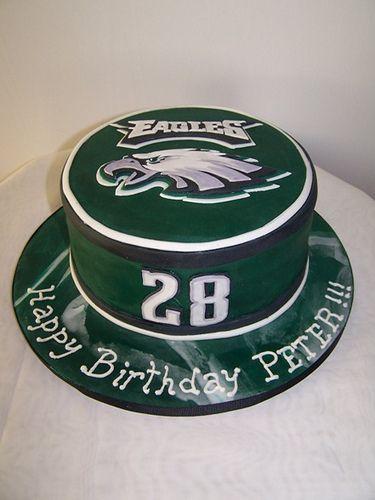 Fabulous Loreli Philadelphia Eagles Cake Philly Eagles Cake Eagles Funny Birthday Cards Online Hendilapandamsfinfo