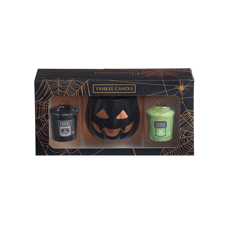Yankee candle halloween sampler votives and pumpkin holder gift