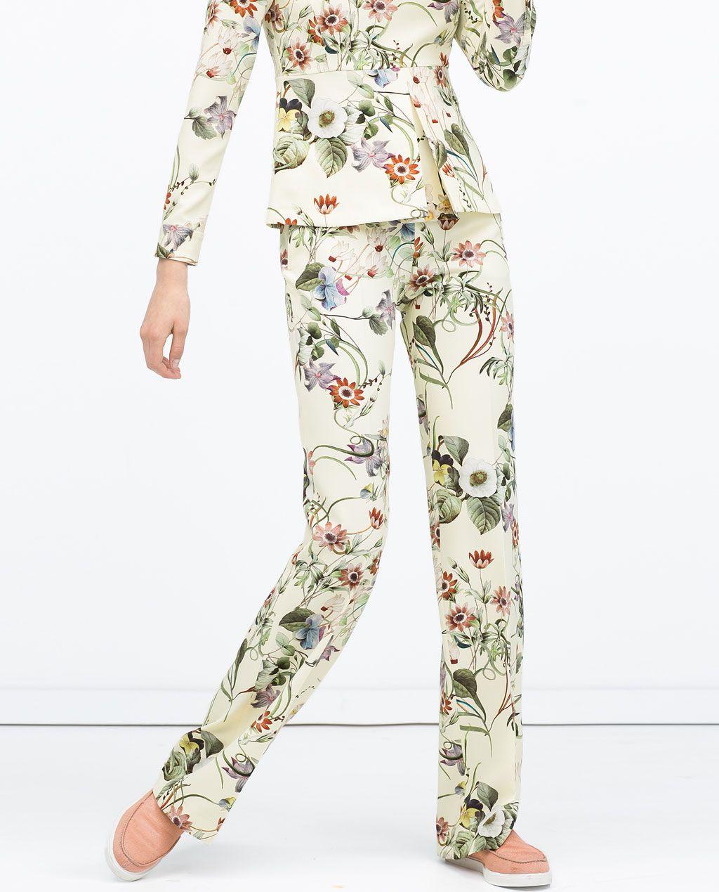 Pin By Tovmali On Zara Ss15 Loose Trousers Women Loose Trousers Trousers Women