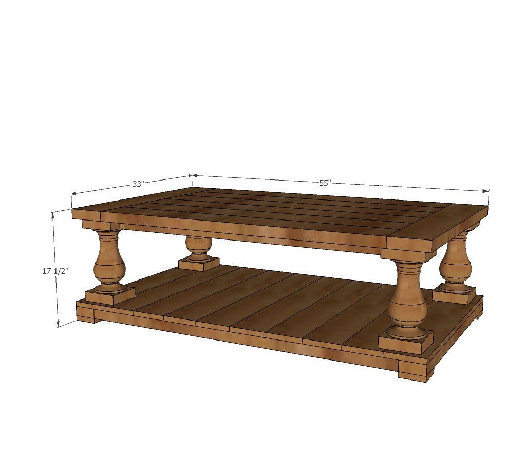 Build A Balustrade Coffee Table