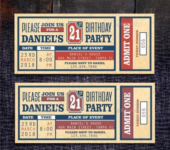 Ticket Invitation Templates  Psd Invitations  Free  Premium