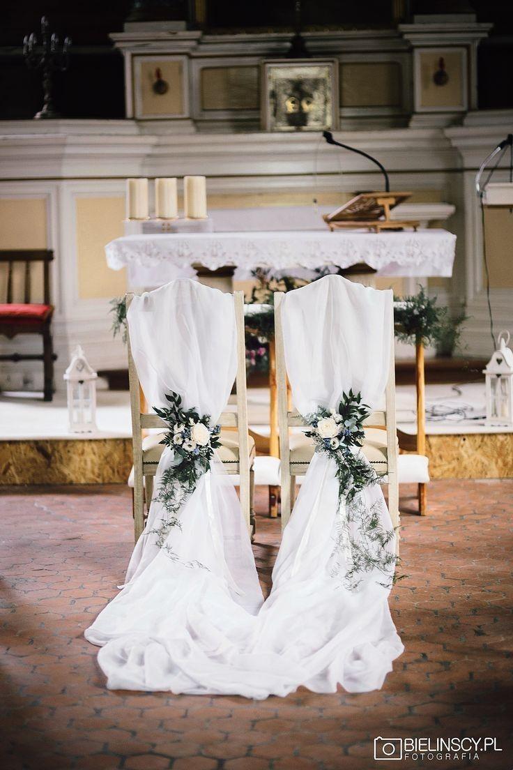 Pin By Americomarcelo On Slub Wystroj Kosciola Wedding Chairs Dream Wedding Decorations Church Wedding Decorations