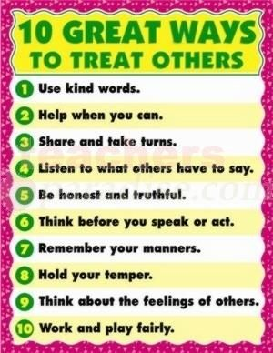 Chartlet 10 great ways to treat others 17 x 22 from chartlet 10 great ways to treat others 17 x 22 from teachersparadise teacher supplies and school supplies publicscrutiny Image collections
