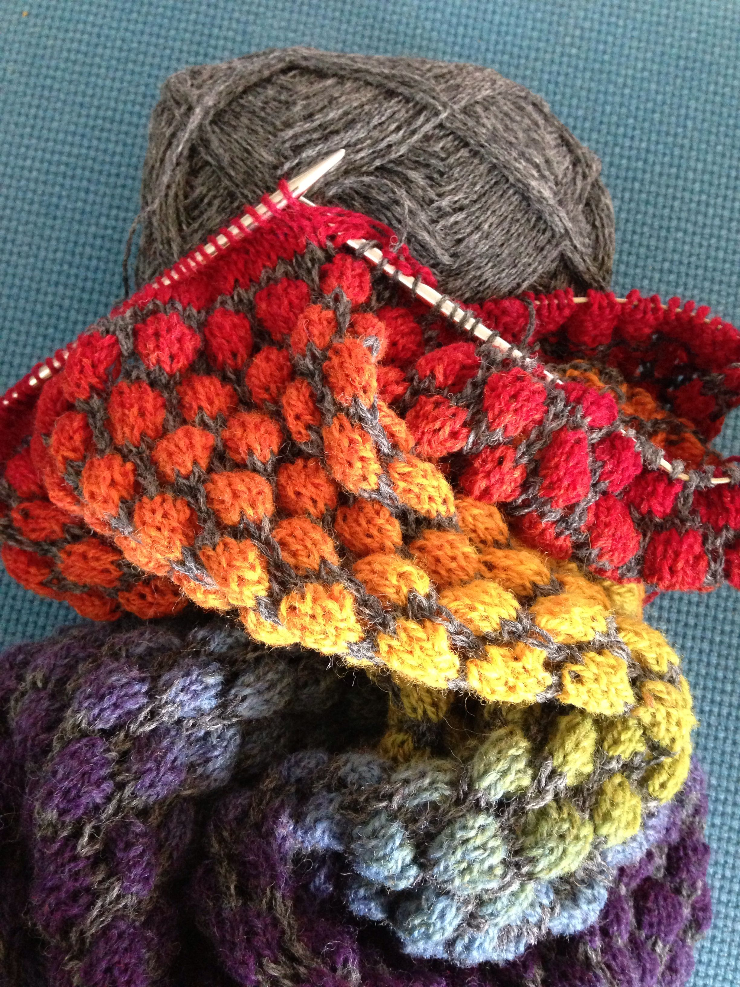 Stained Glass Bubble Hat Amp Scarf Pattern By Jen Hurley