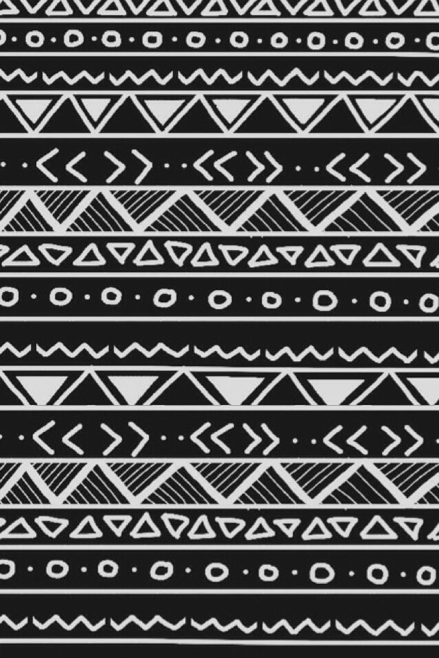 Aztec Wallpaper Black And White