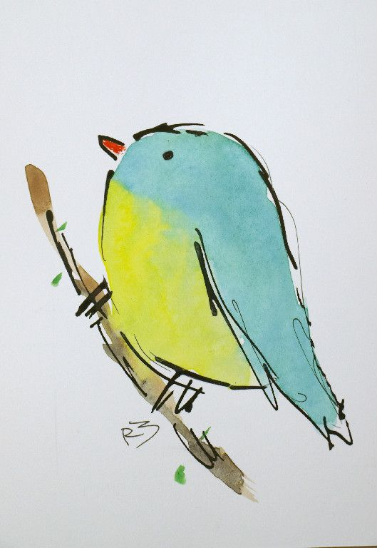 Watercolor Birds By Richard Mckey With Images Bird Drawings