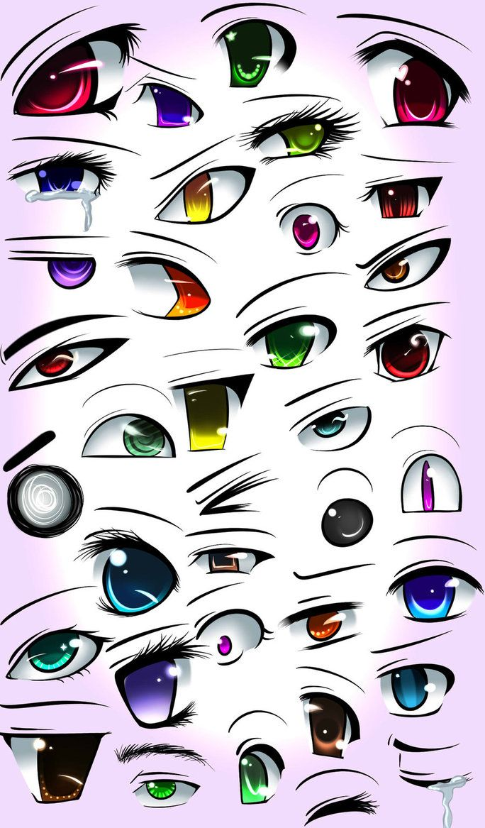 """or I could say """"60 anime eyes"""" to make it look like I"""