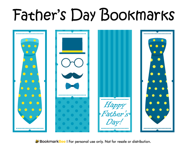 free printable fathers day bookmarks download the pdf template at httpbookmarkbee