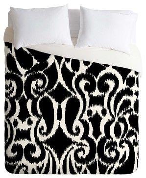 DENY Designs Khristian A Howell BW Eloise Duvet Cover - Lightweight - mediterranean - Duvet Covers - DENY Designs