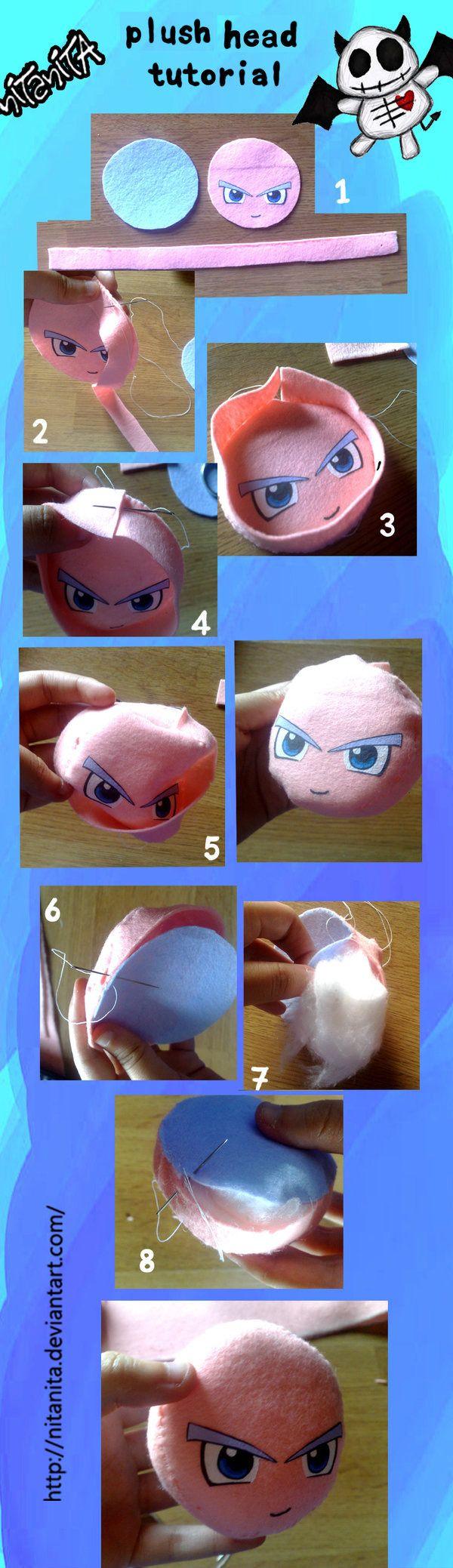 Plush head tutorial by nitanita.deviantart.com on @deviantART