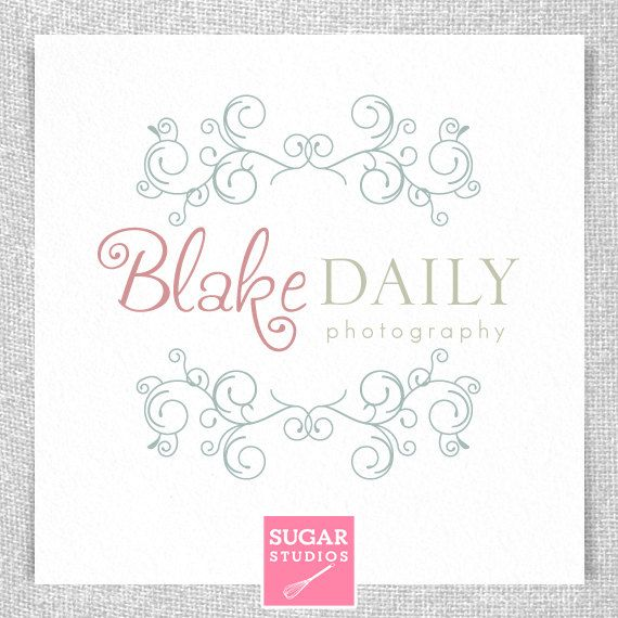 Premade Photography Logo  Blake Collection by sugarstudios on Etsy, $25.00