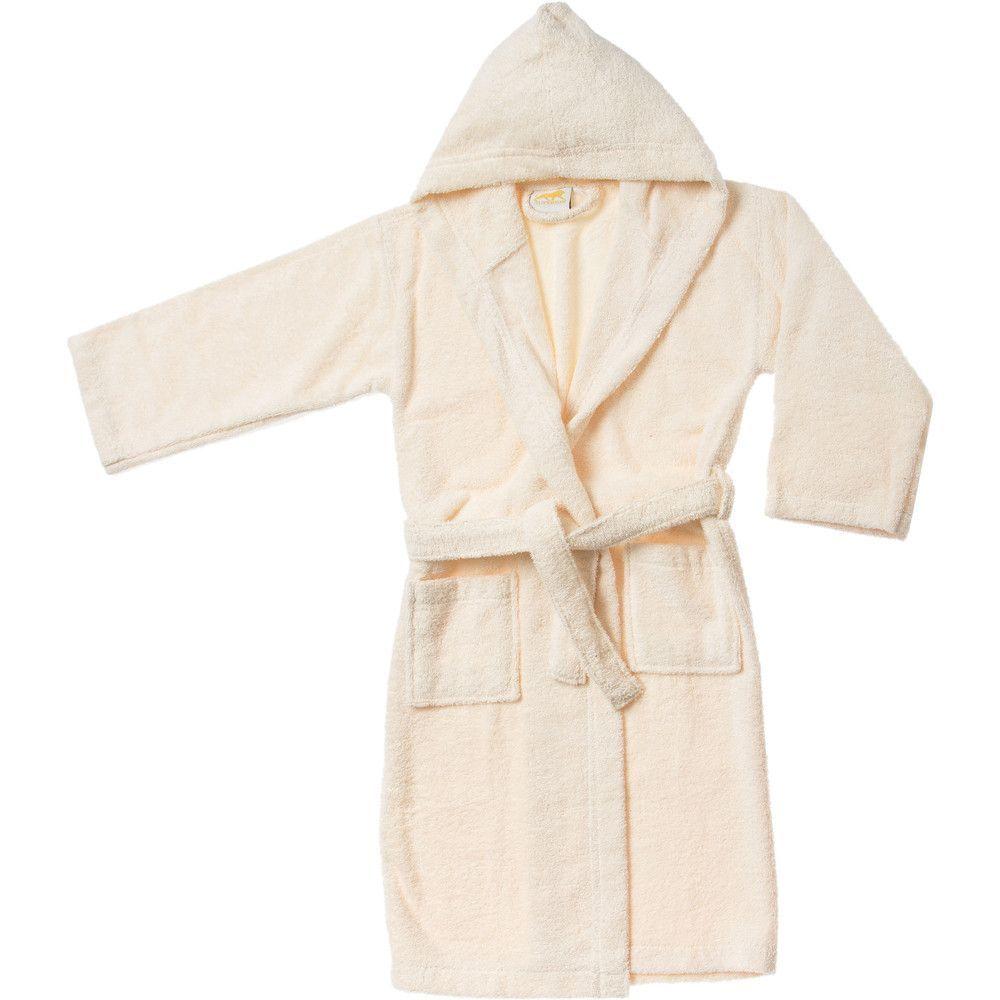 Premium Long-Staple Combed Cotton Kids Hooded Bathrobe  8d8815710