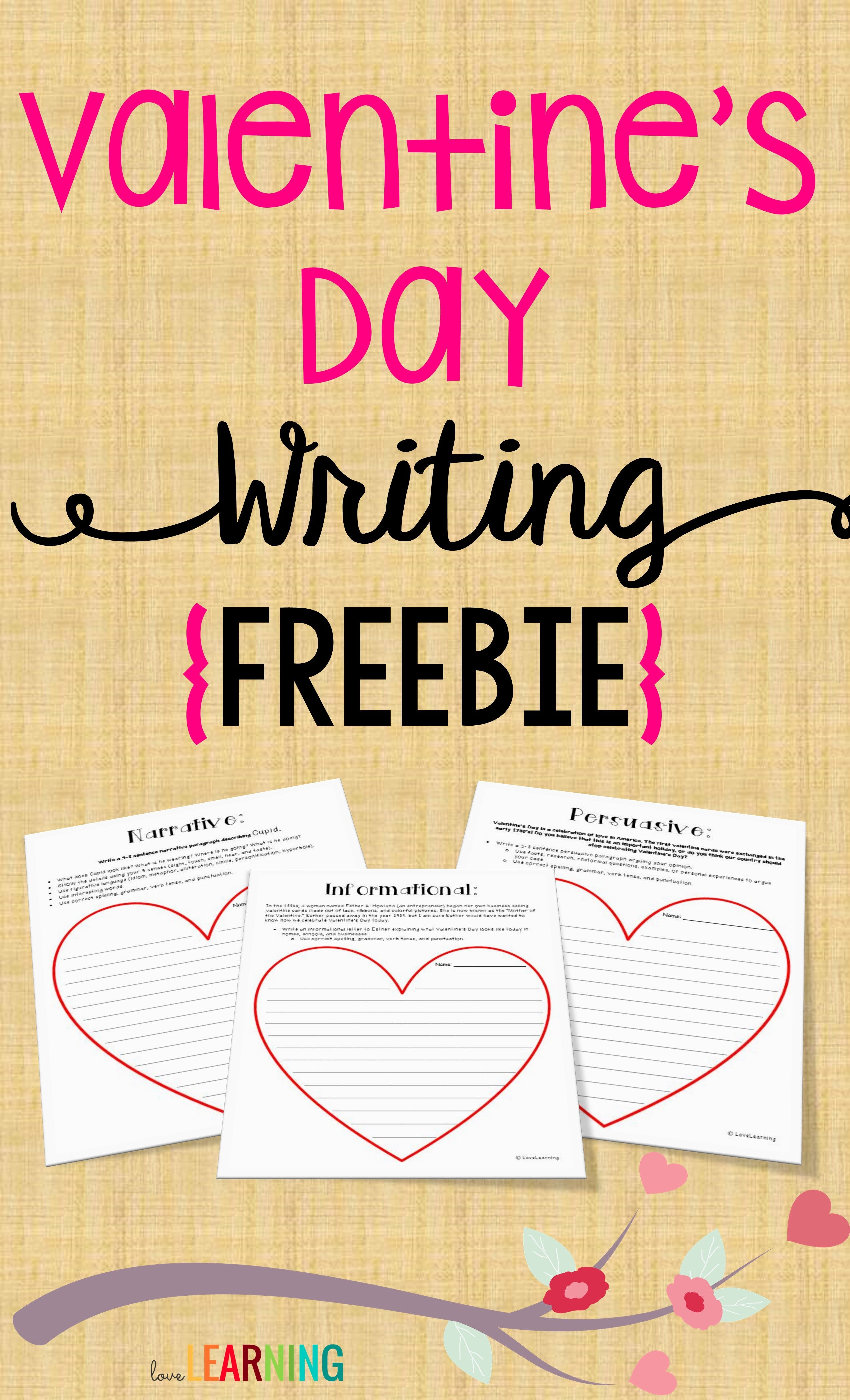 Valentine S Day Writing Narrative Informational Persuasive Writing Prompts