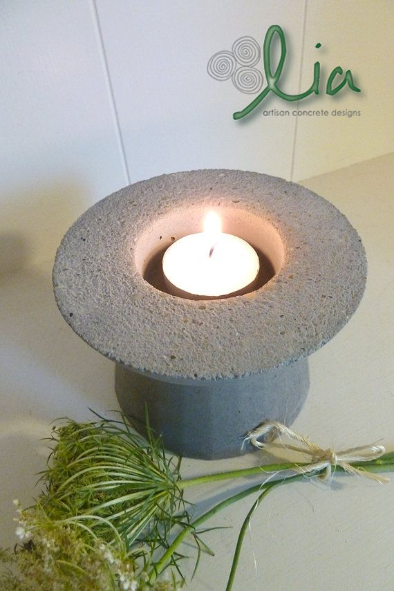 win this $150 worth of handmade including this Concrete Votive Holder Pedestal Candle Holder by BatesMercantileCo, $21.00 http://batesmercantileco.blogspot.com/2012/08/happy-august-time-for-new-giveaway.html