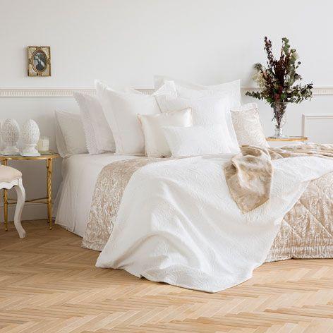 Tagesdecke Und Kissenbezug Aus Baumwolle Mit Damastmuster
