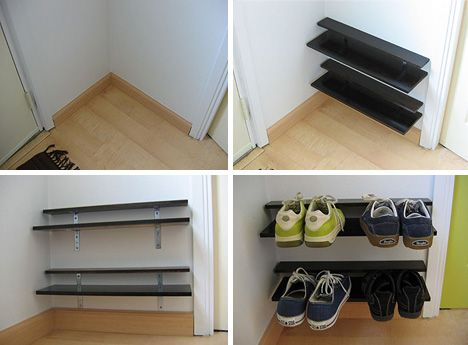 For Noah S Area Of The Landing Strip Oh And Notmartha Is My Hero Diy Shoe Rack Space Saving Shoe Rack Shoe Shelf Diy