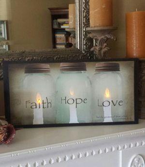 $28   Faith, Hope U0026 Love Light Up Canvas!