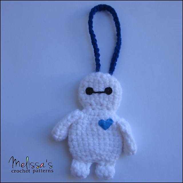 Ravelry: Baymax Luggage or Backpack Tag pattern by Melissa\'s Crochet ...