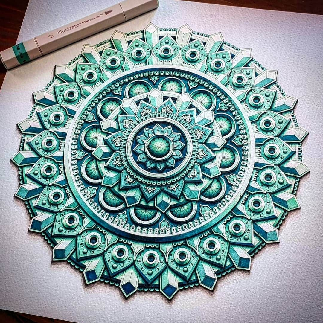 3D Looking Mandala Drawings
