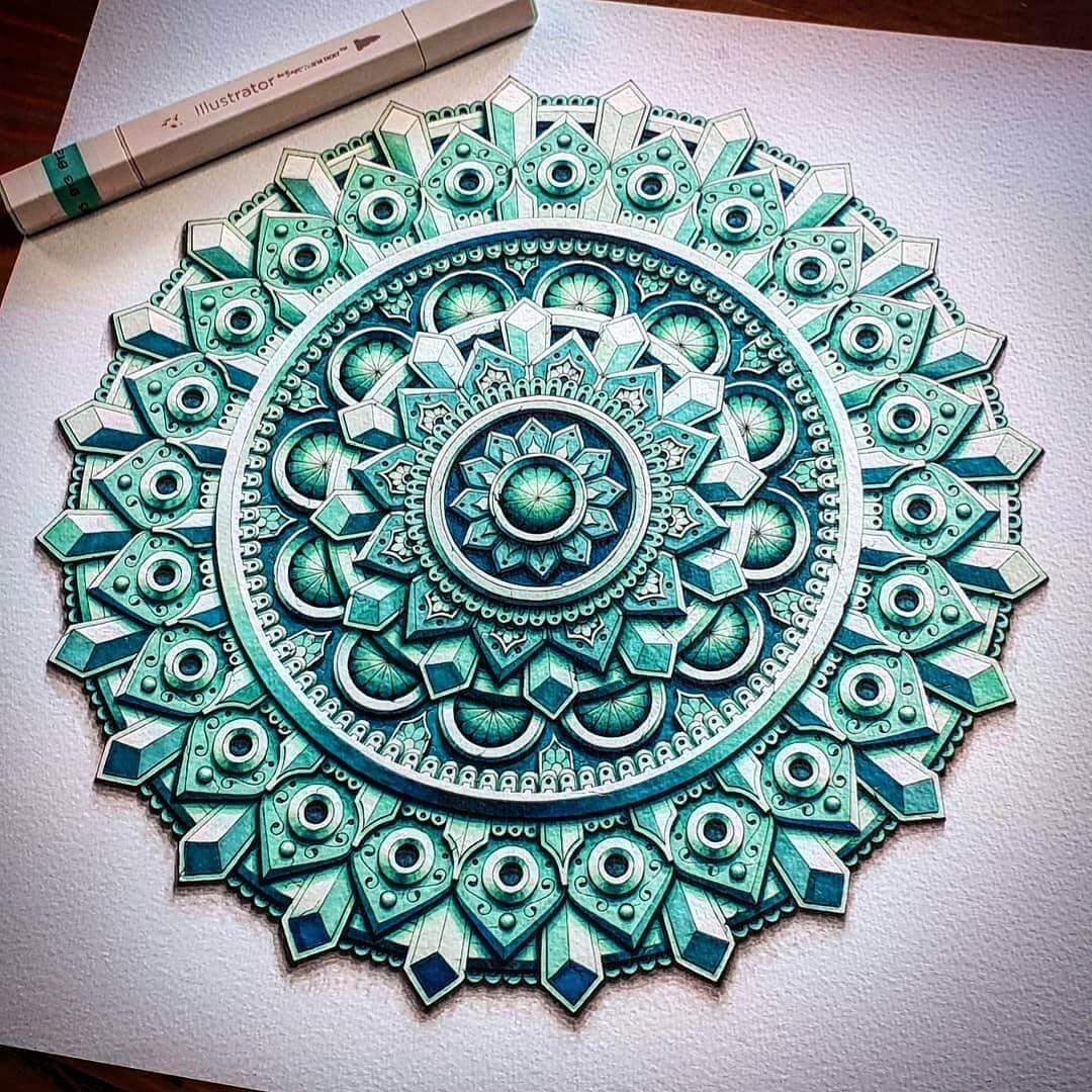 3D Looking Mandala Drawings