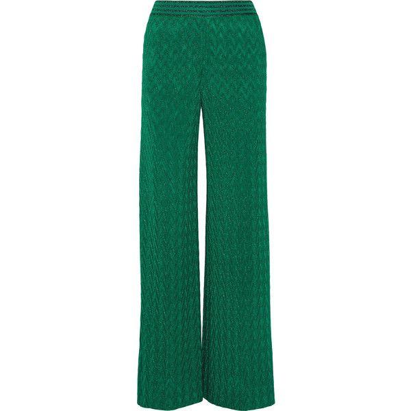 Crochet-knit Wide-leg Pants - Green Missoni Acokfu
