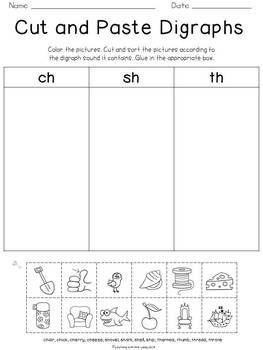 Blends & Digraphs | Worksheet | Education.com