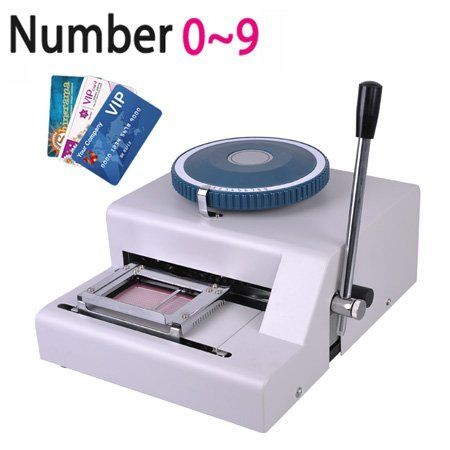 Manual Pvc Credit Card Printing Indenting Machine By Mega Brands 361 44 Features Manual Indent Machine Credit Card Machine Embossing Machine Plastic Card