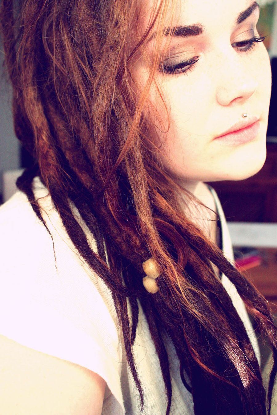 Eyebrow and nose piercing  Pin by Mrs Lady on LoCs  Pinterest  Medusa piercing Dreadlocks
