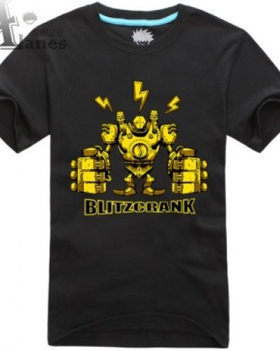 2ac68e2f1 Blitzcrank, League of Legends camisas pretas de t-   league of ...