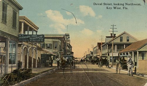Very Cool Old Postcard Depicting Duval And Greene Looking North Dates Back To 1900 Old Keywest History Oldphoto Key West Old Postcards Fishing Villages