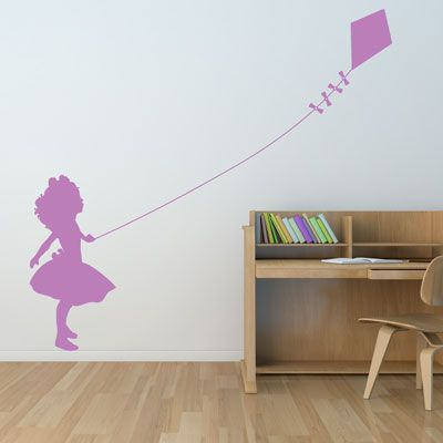 Dali Little Girl Flying A Kite Wall Decal Wall Decal Sticker Wall Decals Vinyl Wall Decals