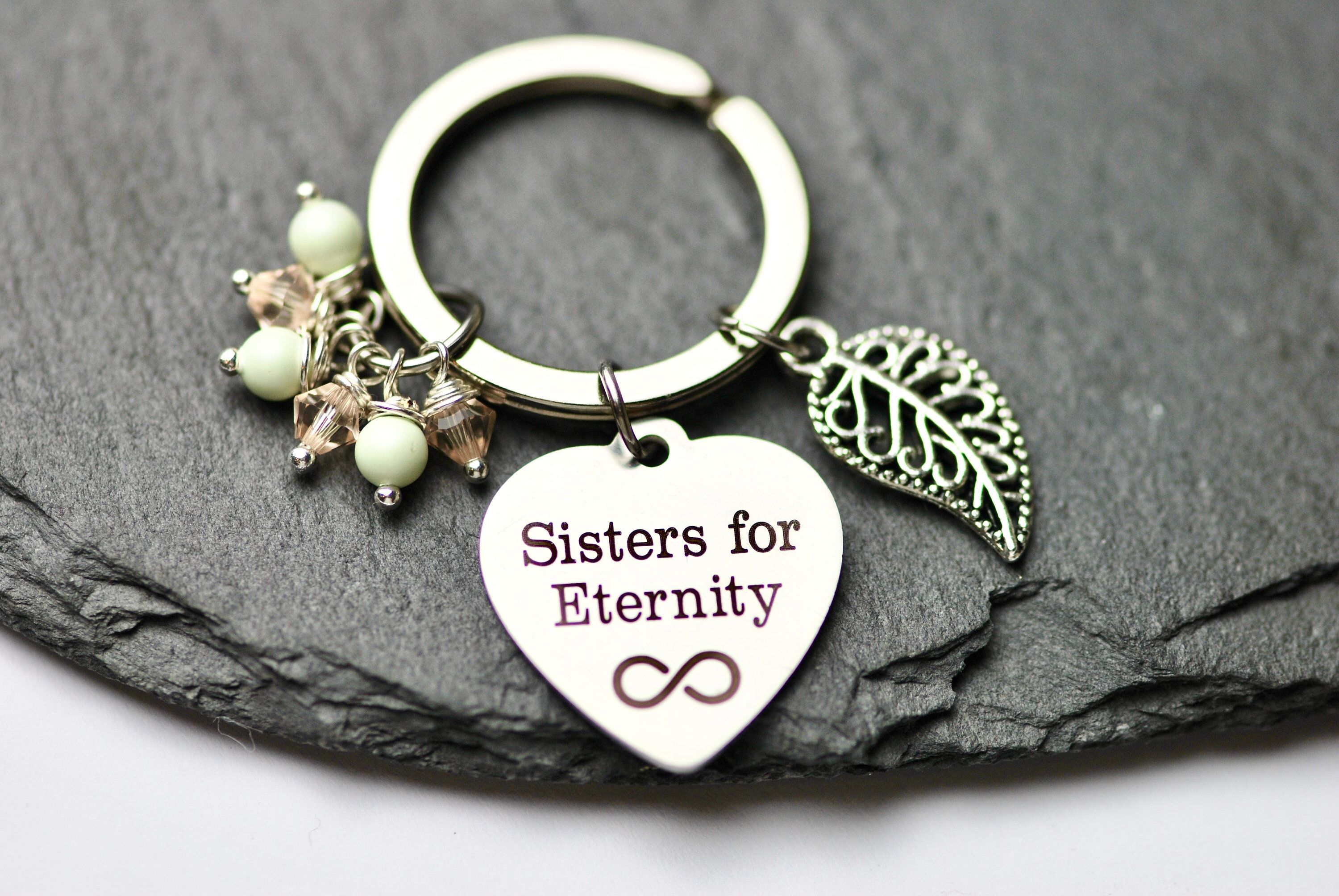 Cute sister gift, sister keychain / keyring, Sisters for