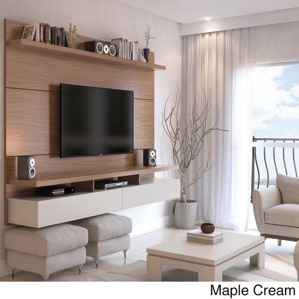 Manhattan comfort city 2 2 floating wall theater for Center mobili outlet