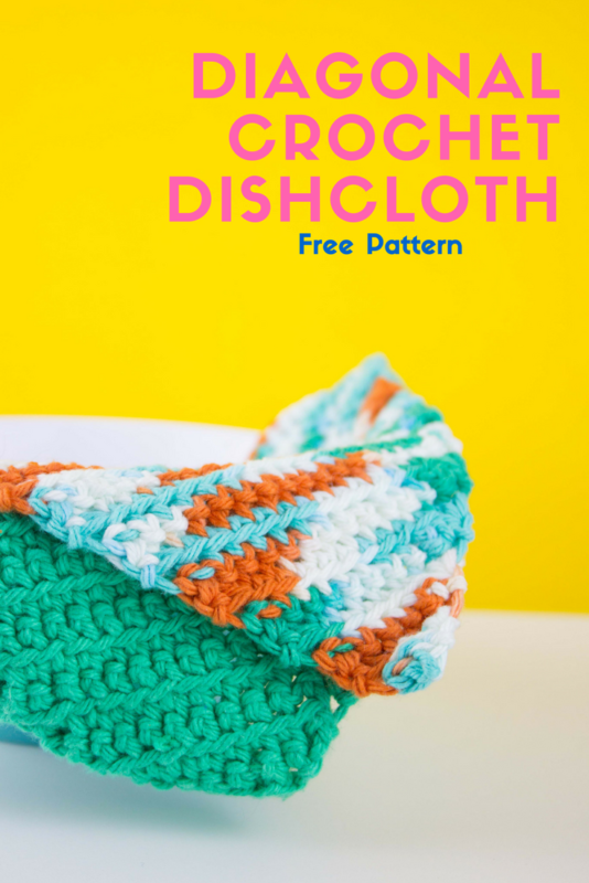 Diagonal Crochet Dishcloth - with free pattern   Patrón libre ...