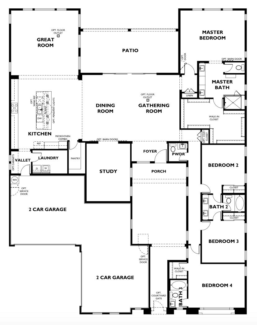 Shea Homes Residence 3 | f l o o r p l a n s | New house ... on 3 bed 3 bath floor plans, 5 bed 3 bath floor plans, 6 bed 3 bath floor plans, 2 bed 1 bath floor plans, bathroom floor plans, 4 bedroom home floor plans,