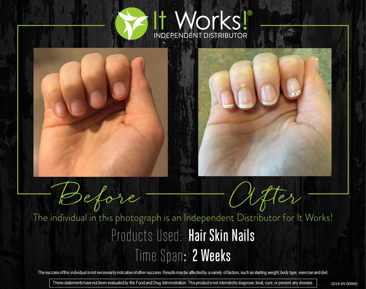 My Personal results of our It Works HSN!!! Just two weeks difference ...