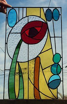 Abstract Rose By Terrazastainedglass Stained Glass Panels