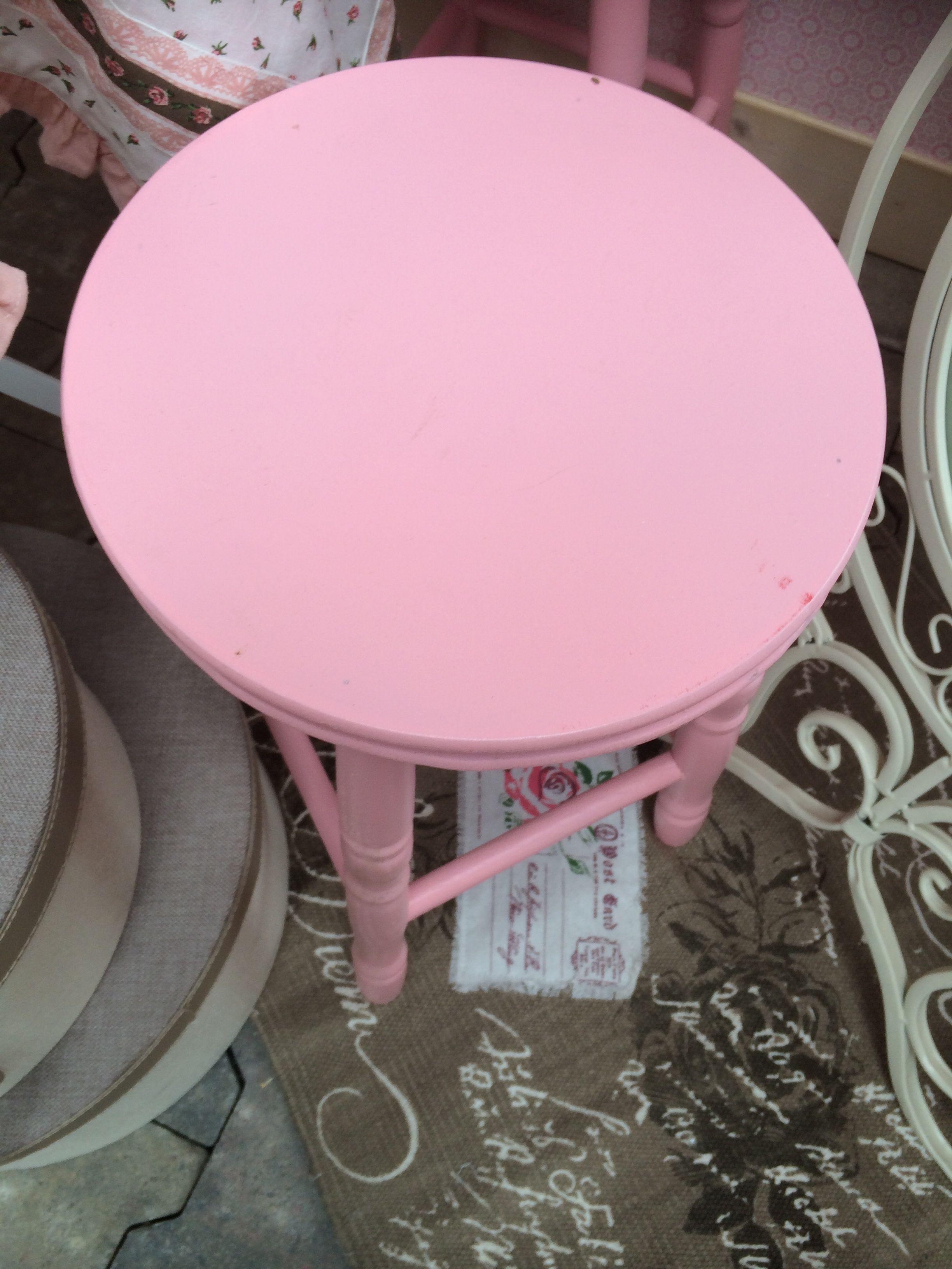 Pink stoel