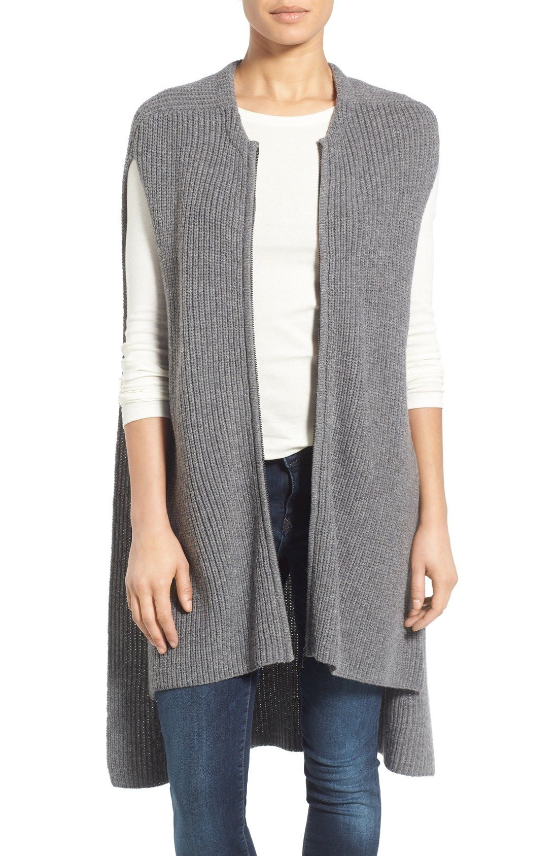 Halogen® Knit Zip Vest available at #Nordstrom | Wear what you've ...