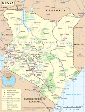 Pin By Weeeee Want 2 Go On Africa Kenya Political Map African Great Lakes