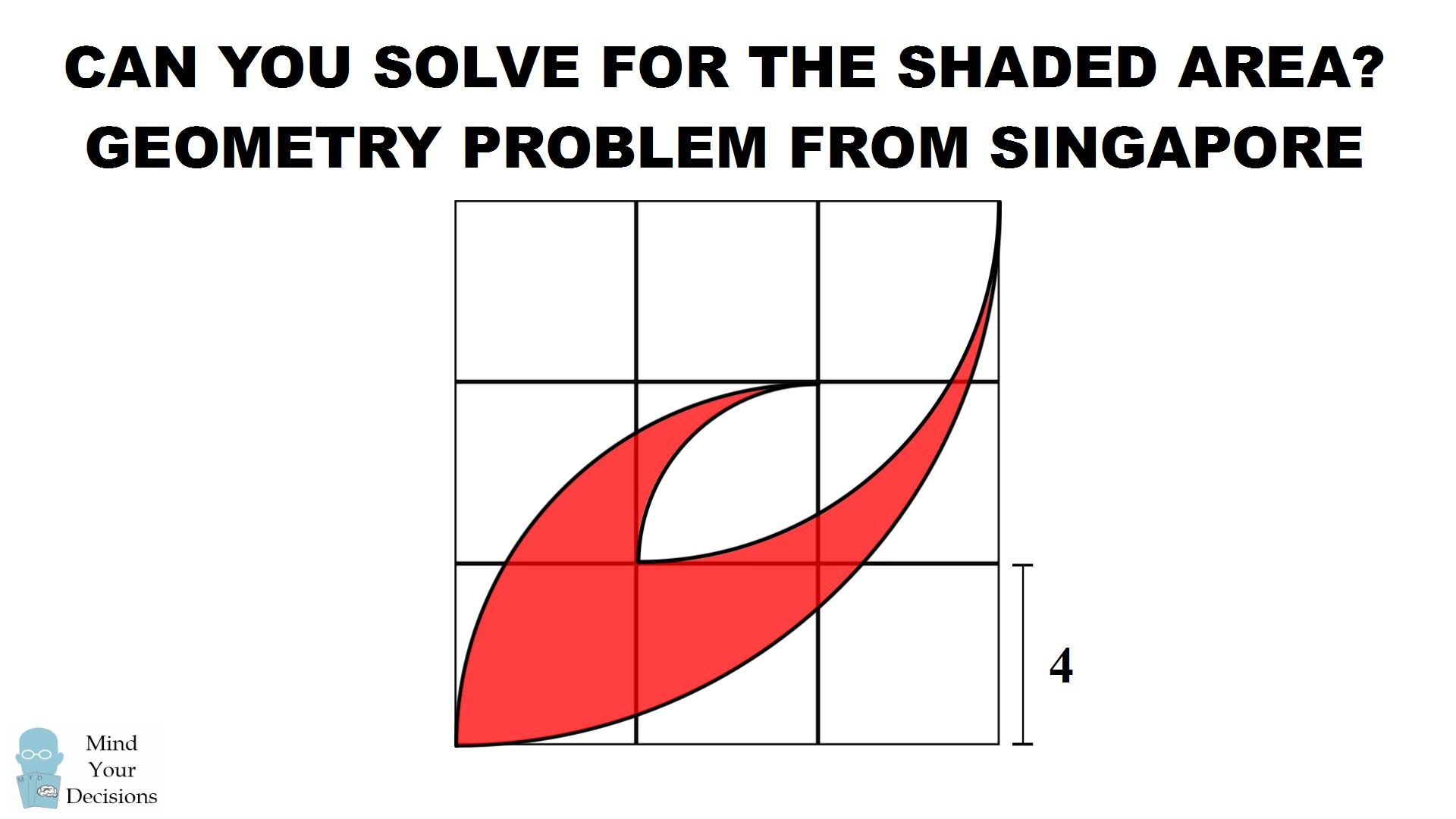 can you solve this geometry problem for singapore students? the area