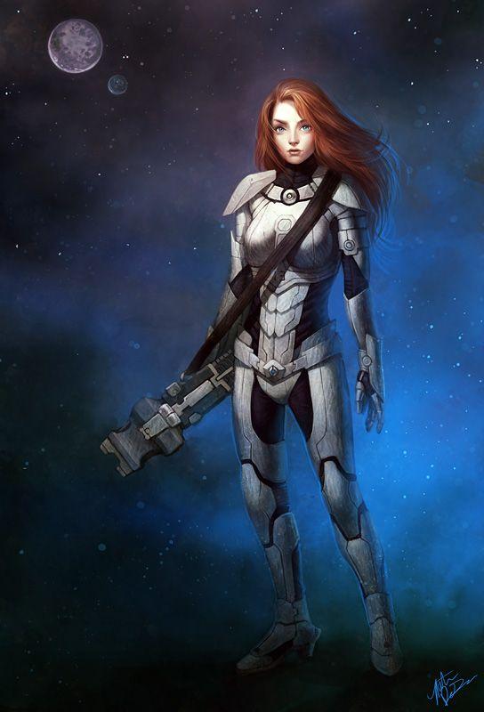 Scifi warrior girl #6907899