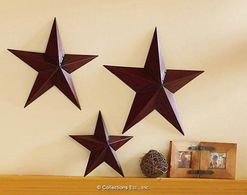Collections etc country star primitive wall trio collections etc http www