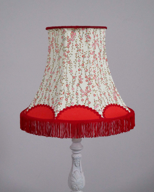 Abat Jour Tulipe Tissu abat-jour pagode, style rétro/bohème en papier japonais