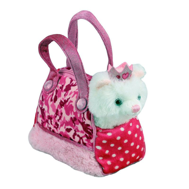 Title: Princess Cat In Pink Camo Bag Fancy Pals Size: Measures 8 inch / 20cm long Price: AUS$ 22.95 Brand : Aurora  Lots more items like this available at: www.stuffedwithplushtoys.com 100 Day Returns |Fast Trackable Shipping|Google Trusted Store